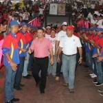 El alcalde en su llegada junto al decano de la Unefa, Manuel González